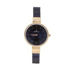 Reloj acero mujer maya azul