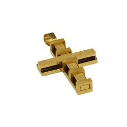 Cruz acero grande dorada