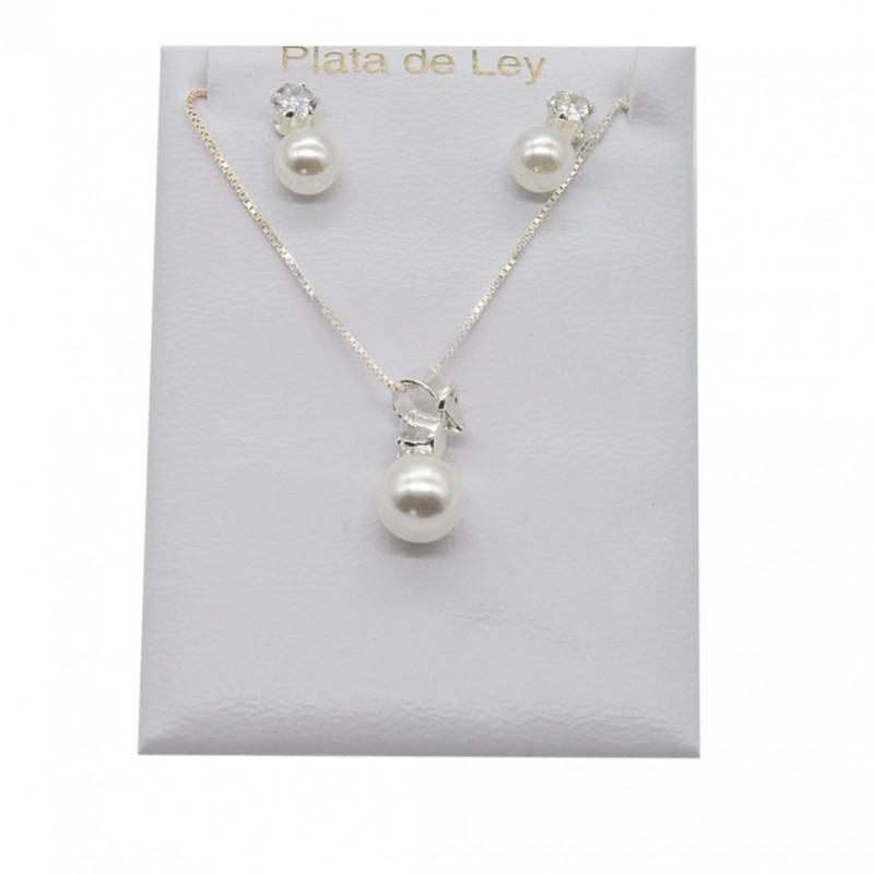 Conjunto de niña en perlas