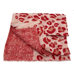 Fular estampado animal Rojo