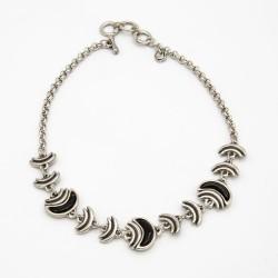 Collar de ciclon de plata