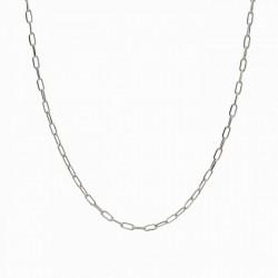 cadena forzada de plata 60 cm