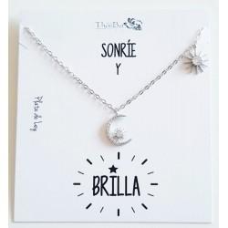 """COLLAR """" SONRIE Y BRILLA""""..."""