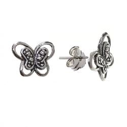 Pendiente mariposa de plata